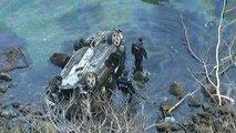 Sarıyer'de bariyerleri aşan otomobil denize uçtu: 1 ölü