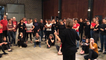 """Répétition de """"Foules', chorégraphie d Iva Grandville pour 100 danseurs amateurs"""