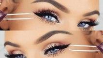 Glam Eye Makeup With Fake Eye Lashes Makeup Tutorial