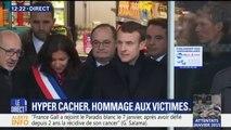 Emmanuel Macron s'est rendu dans l'Hyper Cacher après avoir rendu hommage aux victimes