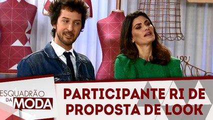 Participante ri de proposta de look de Bella e Arlindo