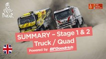 Summary - Truck/Quad - Stages 1 & 2 (Pisco / Pisco) - Dakar 2018