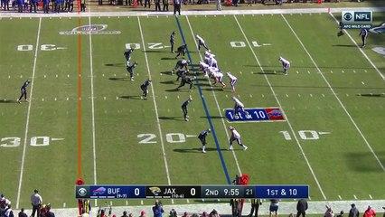 Buffalo Bills running back LeSean McCoy springs through Jaguars' defense for a 12-yard gain