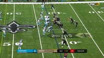 New Orleans Saints quarterback Drew Brees hits an open wide receiver Brandon Coleman for 19 yards