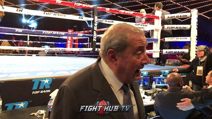 """BOB ARUM """"ANTHONY JOSHUA'S CHIN IS SUSPECT! PARKER, WILDER CAN KNOCK HIM OUT!"""""""