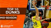 Turkish Airlines EuroLeague, Top 10 Dunks, mid-season