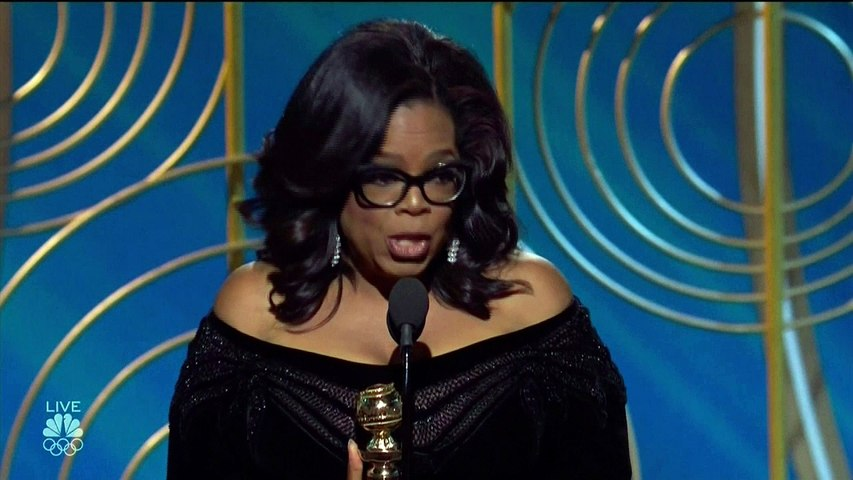 Oprah's speech dominates the Golden Globes