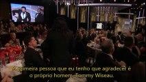 James Franco recebe prêmio de melhor ator no Globo de Ouro (legendado)