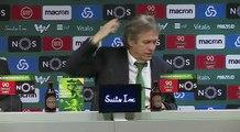 Jorge Jesus quando soube que o FC Porto estava a perder: «Opa, não me digas isso...»