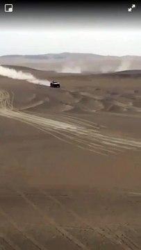 El argentino Orlando Terranova vuela sobre las dunas
