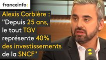 """Alexis Corbière (député FI) : """"Depuis 25 ans, le tout TGV représente 40% des investissements de la SNCF et a concerné 8% des lignes"""""""