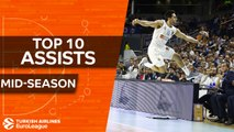 Turkish Airlines EuroLeague, Top 10 Assists, mid-season