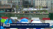 i24NEWS DESK   France sees record asylum requests in 2017   Tuesday, January 9th 2018