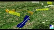 Nouvelle arrivée nord-ouest vers les aéroports de Chambéry et d'Annecy