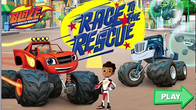 Blaze and the Monster Machines: Blaze Race to the Rescue | Blaze & AJ rescue his friends By Nick Jr.
