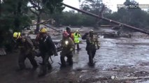 Firefighters rescue girl who nearly drowned in muddy floodwaters in California