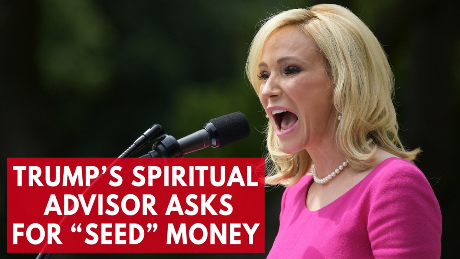 Trump's spiritual adviser warns of consequences from God if followers don't send appropria