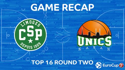 7Days EuroCup Highlights Top 16, Round 2: Limoges 66-69 UNICS