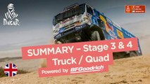 Summary - Truck/Quad - Stages 3 & 4 (San Juan de Marcona / San Juan de Marcona) - Dakar 2018