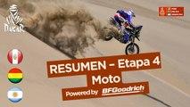Resumen - Moto - Etapa 4 (San Juan de Marcona / San Juan de Marcona) - Dakar 2018