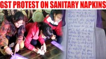 PM Modi receives messages on sanitary napkins in protest of GST, Watch Video | Oneindia News