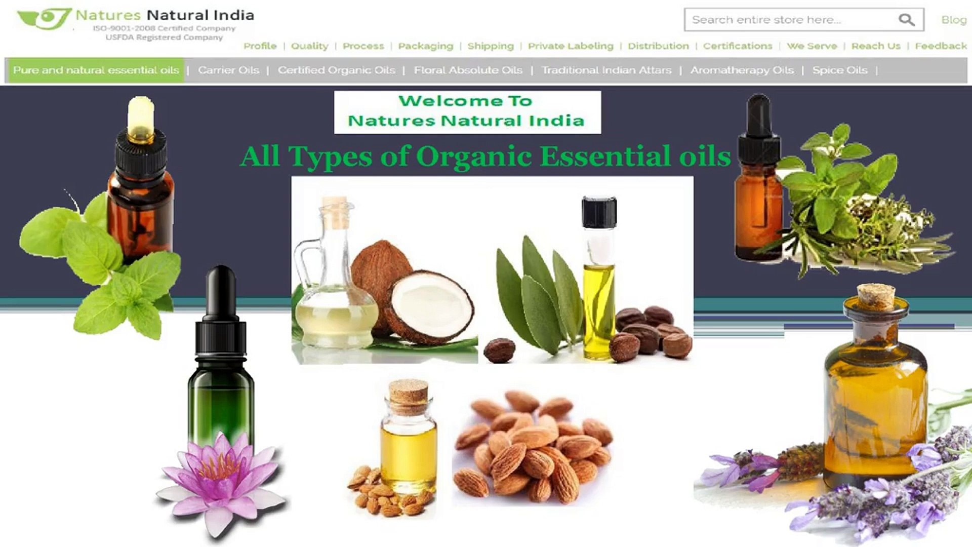 Natures Natural India Supplier of Wholesale Organic Essential Oils