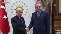 Cumhurbaşkanı Recep Tayyip Erdoğan Erdoğan, MHP Genel Başkanı Bahçeli'yi kabul etti
