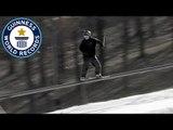 Longest rail grind on skis - Guinness World Records