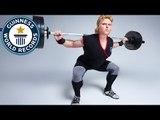 Dutch strongwoman smashes squat lifting record - Classics