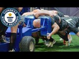 Fastest 10 m pushing a 1,500 kg rugby scrum machine // Guinness World Records Italian Show (Ep 27)