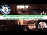 Fastest time to complete survival mode on Star Wars: Battlefront - Guinness World Records