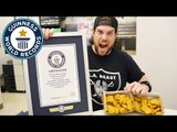 Competitive eater L.A. Beast takes on chicken nuggets record - Guinness World Records