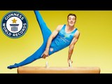 Most Thomas flairs on a pommel horse in one minute // Guinness World Records Italian Show (Ep 26)