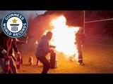 Longest distance run on fire! - Guinness World Records