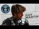 Guy Martin Breaks Downhill Sled Record
