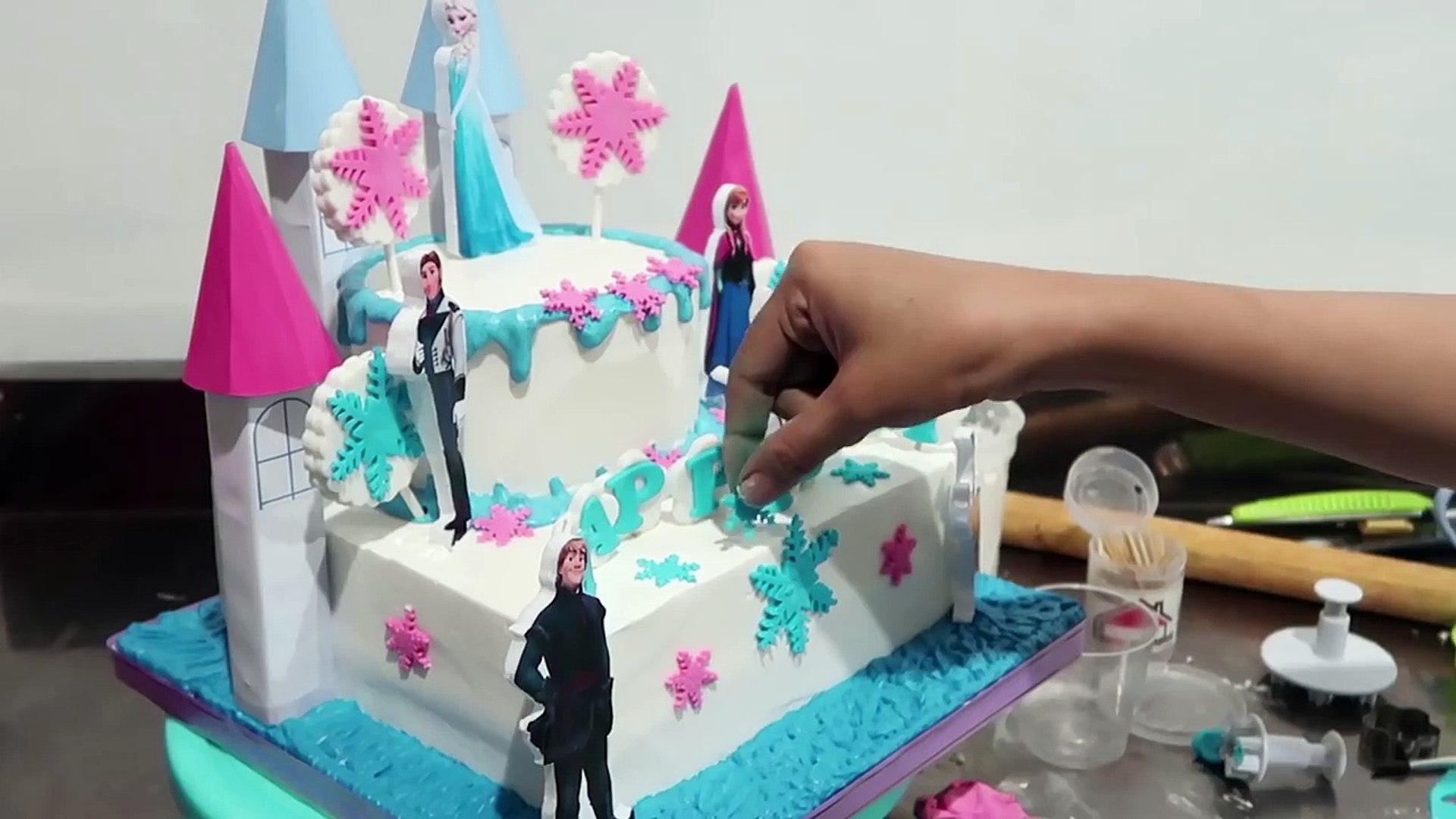 How To Make Birthday Cake Frozen Elsa Cara Membuat Kue Ulang Tahun Frozen