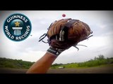 Most golf ball catches in one minute (100 metres) - Guinness World Records Classics