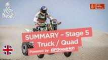 Summary - Truck/Quad - Stage 5 (San Juan de Marcona / Arequipa) - Dakar 2018
