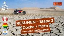Resumen - Coche/Moto - Etapa 3 (Pisco / San Juan de Marcona) - Dakar 2018