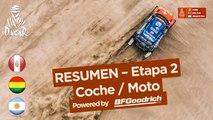 Resumen - Coche/Moto - Etapa 2 (Pisco / Pisco) - Dakar 2018