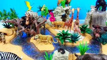 Wild Zoo Animals Safari Adventure - Learn Animal Names with Schleich Toys for Kids