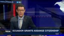 i24NEWS DESK | UK denies assange diplomatic status after Ecuador | Thursday, January 11th 2018