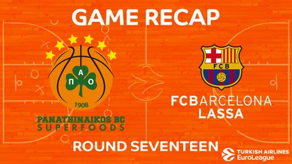EuroLeague 2017-18 Highlights Regular Season Round 17 video: Panathinaikos 84-75 Barcelona