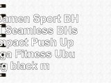 PUPU Damen Sport BH Padded Seamless BHs High Impact Push Up für Yoga Fitness Übung  black
