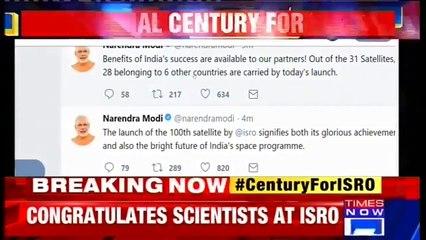 PM Narendra Modi Congratulates ISRO After The Successful Launch Of Their 100th Satellite, PSLV-C40