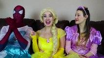 Frozen Elsa CLOTHES SWAP CHALLENGE w  Spiderman Belle Rapunzel Joker Fun Superhero in real life IRL | Superheroes | Spiderman | Superman | Frozen Elsa | Joker