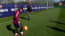 Leo Messi scores an impossible goal for Eros Ramazzotti