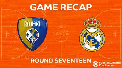 EuroLeague 2017-18 Highlights Regular Season Round 17 video: Khimki 78-95 Madrid