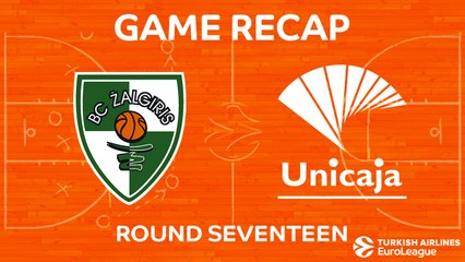 EuroLeague 2017-18 Highlights Regular Season Round 17 video: Zalgiris 79-77 Unicaja