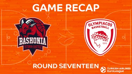 EuroLeague 2017-18 Highlights Regular Season Round 17 video: Baskonia 86-54 Olympiacos